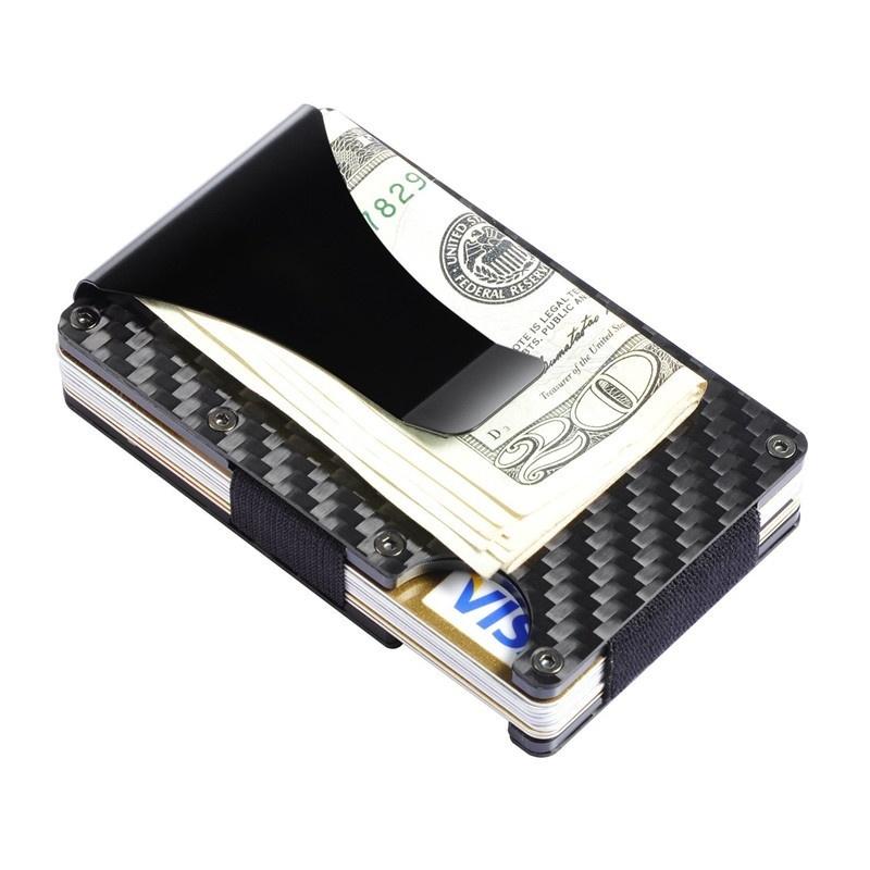 Specifications of Slim Carbon Fiber Money Clip Wallet, RFID EDC Card Holder - intl