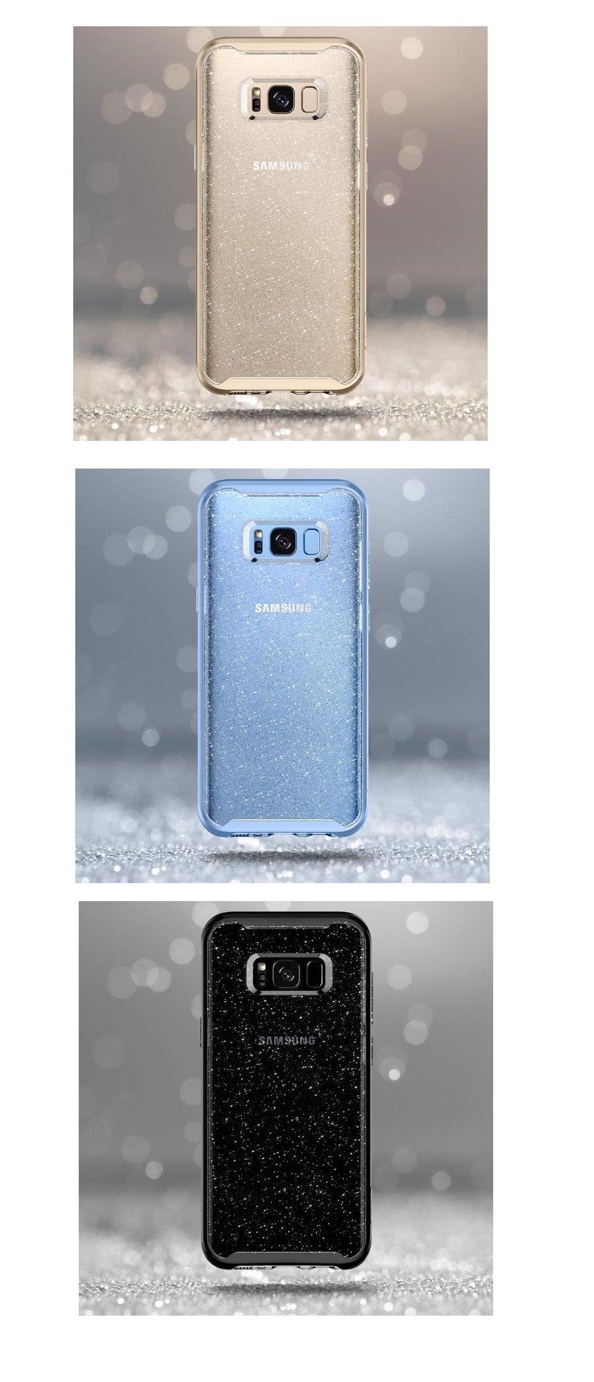 Spigen Samsung Galaxy S8 Plus Case Neo Hybrid Crystal Blue Daftar Shell For Clear Premium Glitter Space Quartz