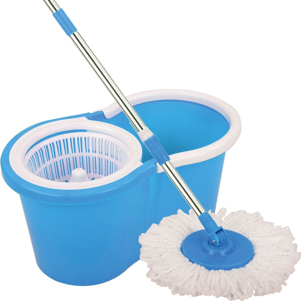 Spin Mop Magic Mop With Cleaner Bucket And 2 Mop Heads