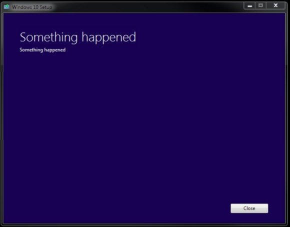 windows 10 bug something happened