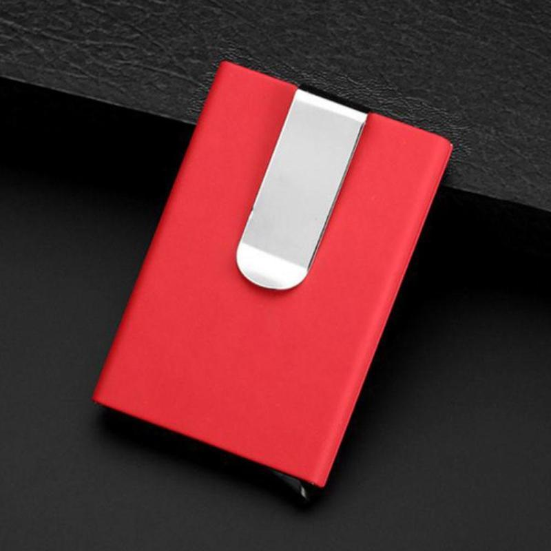 YIXIANGQING MINIMALIST CARBON FIBER SLIM WALLET MONEY CLIP RFID BLOCKING ID CREDIT CARD HOLDER 1 PLATE BLACK INTL ✓