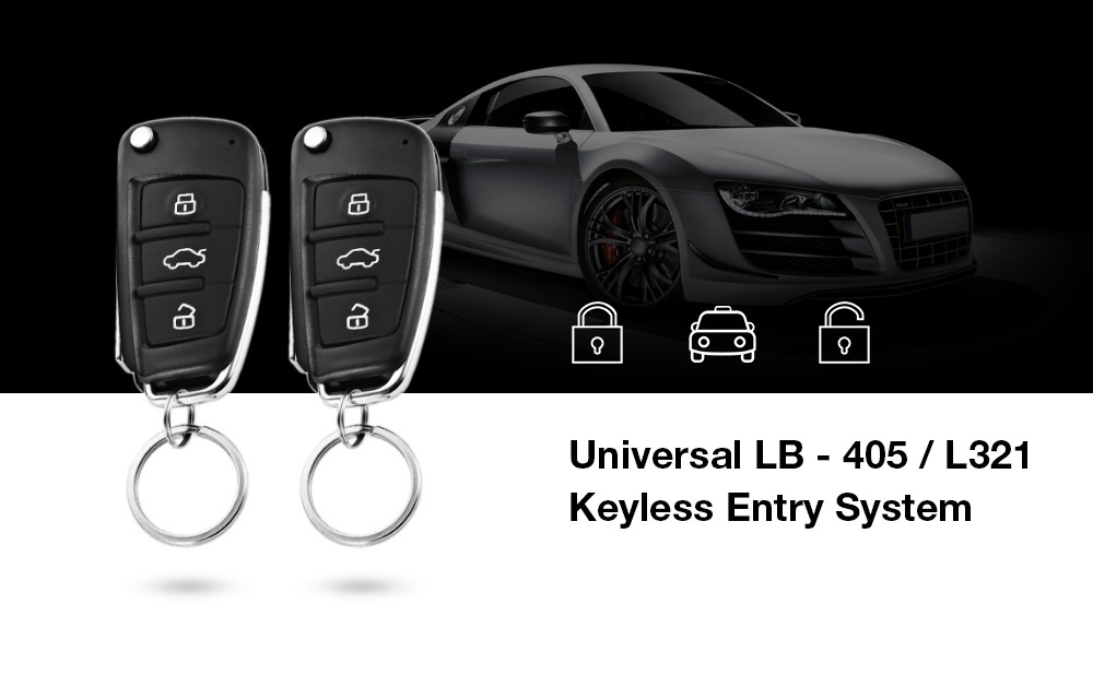 Universal DC 12V LB - 405 / L321 Smart Car Door Lock Unlock Keyless Entry System