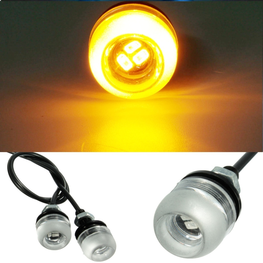 Product Description Motorcycle 5630 18mm 3Led Concave Mirror Eagle Eye Lamp Daytime Running Lights