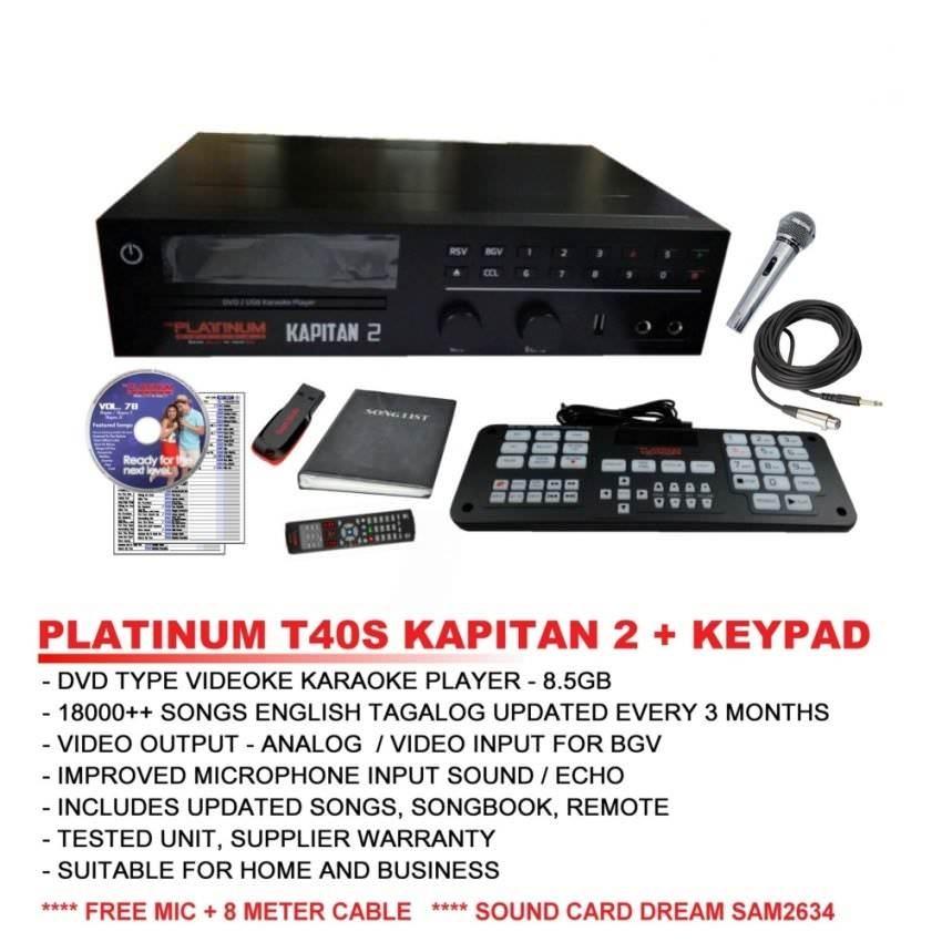 Platinum Kapitan 2 T40S Limited Edition DVD Karaoke Player