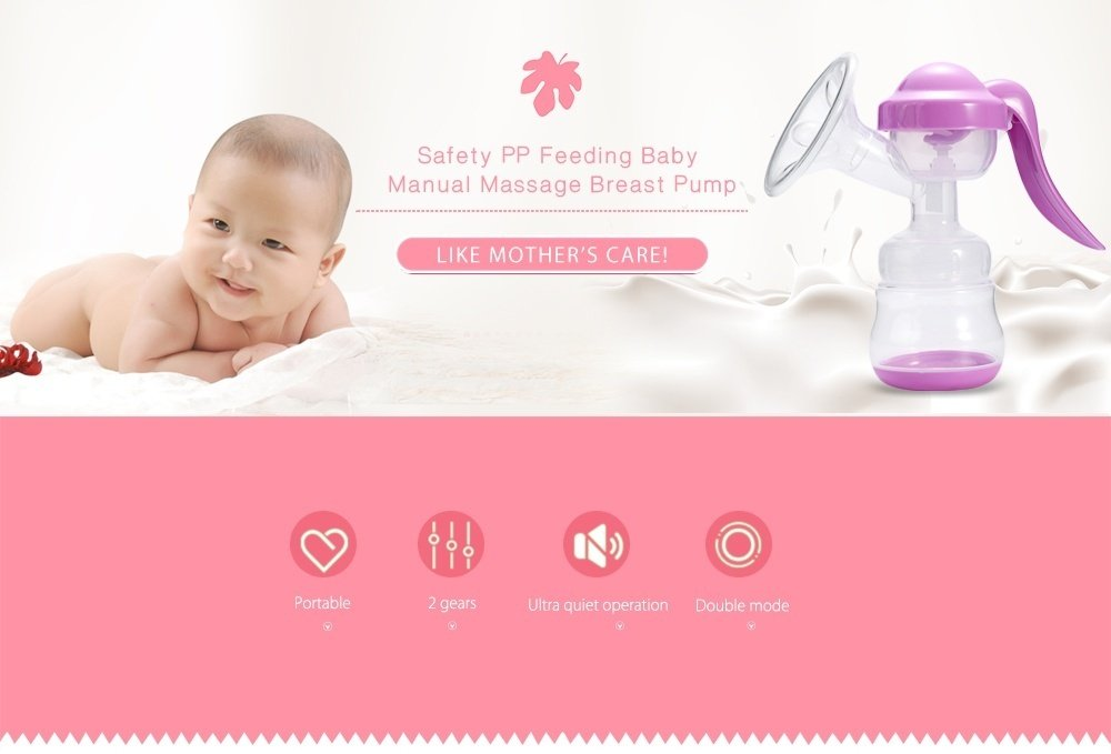 ZIMEITU PP Material Breastfeeding Baby Manual Massage Breast Pump