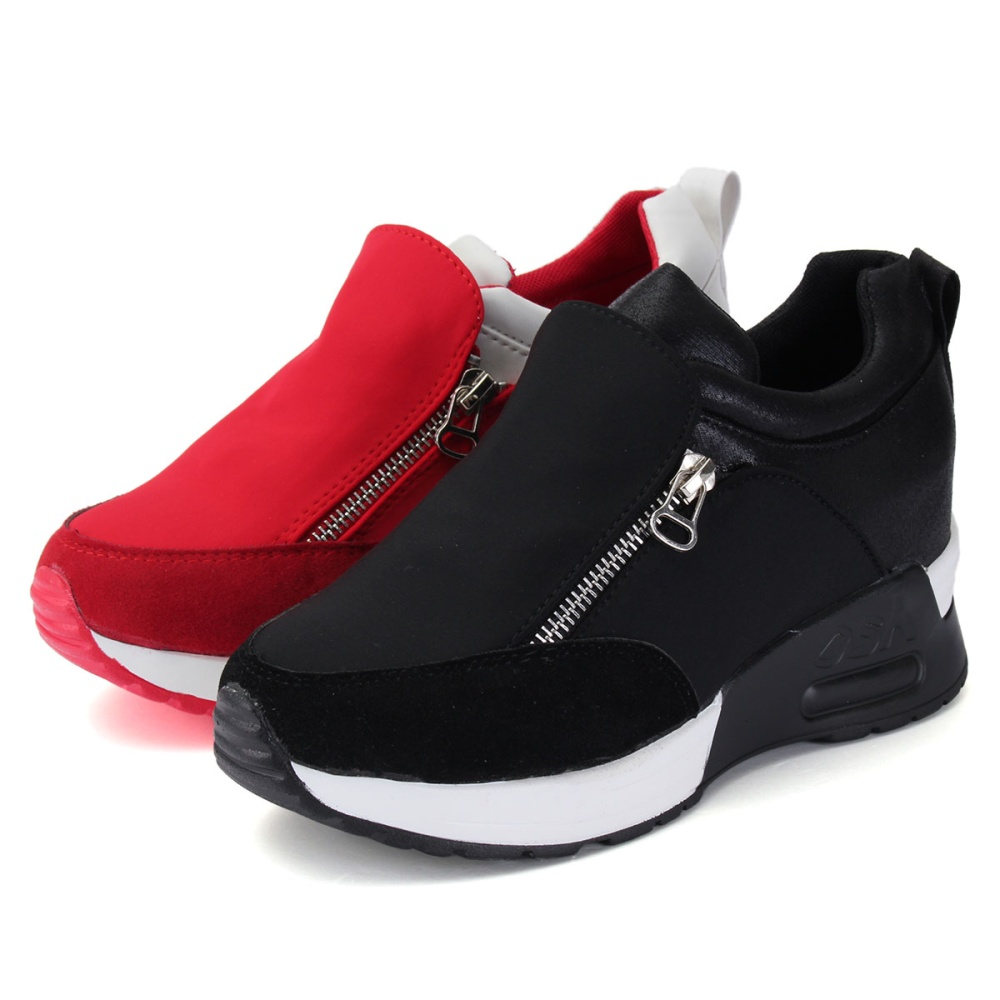 sneakers zip wedge heel sport shoes lazada ph