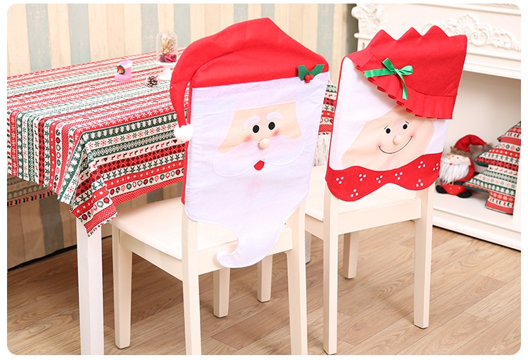 Specifications Of 6pcs 1set Lovely Christmas Chair Covers Mr Mrs Santa Claus Decoration Dining Room Cover Home Party Decor