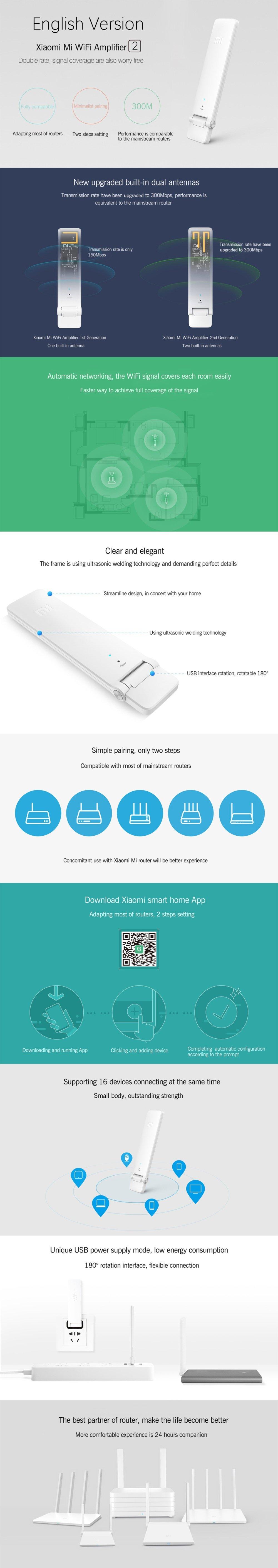 Xiaomi Mi WiFi Repeater 2(white)