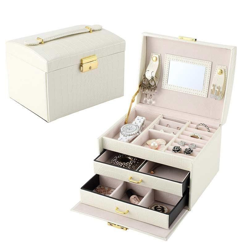 Jewelry Packaging Casket Box Case Organizer Container Boxes - intl