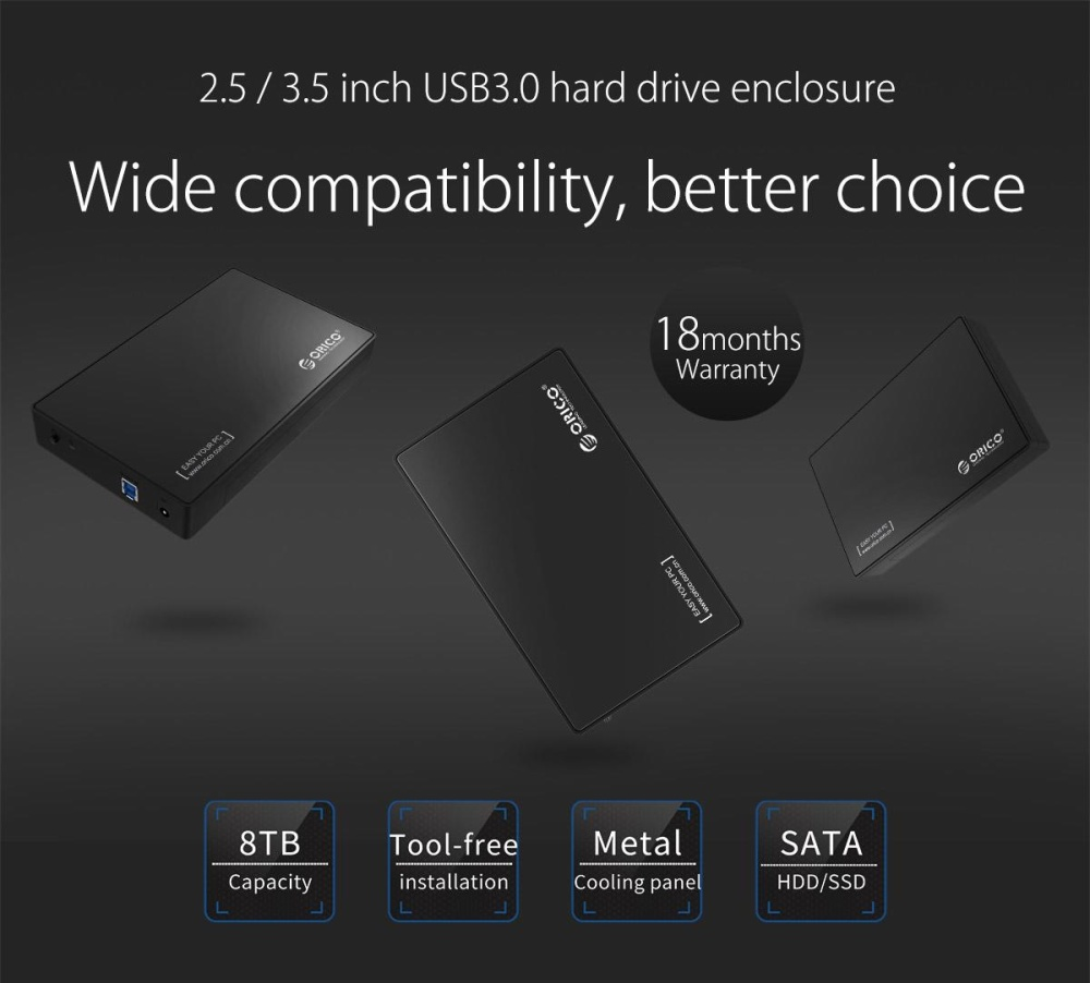 Product Of The Week Orico 25 Usb3 External Hdd Enclosure 2588us3 Harddisk Inch Portable Super Speed Usb 30 Details 3588us3 To 35 Sata Tool Free Case Black