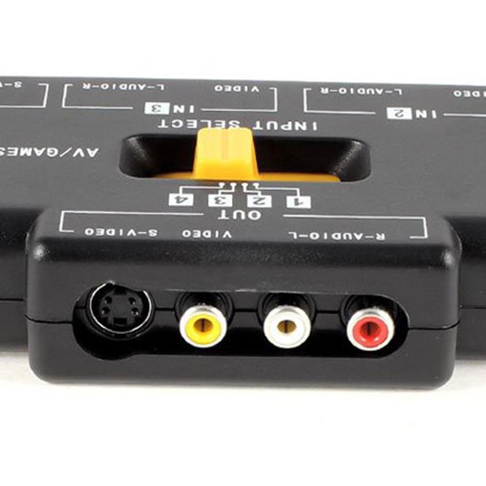 Philippines Ninror 4 Way Audio Video Av Rca Switch Game Selector Box Splitter Black