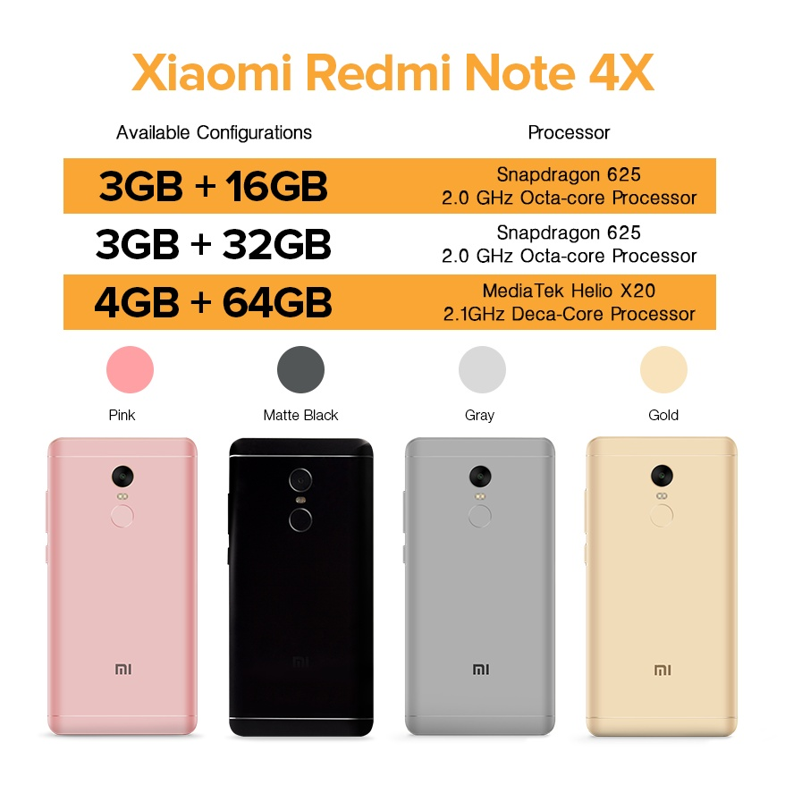 Xiaomi Redmi Note 4X 3GB RAM 32GB ROM Gold