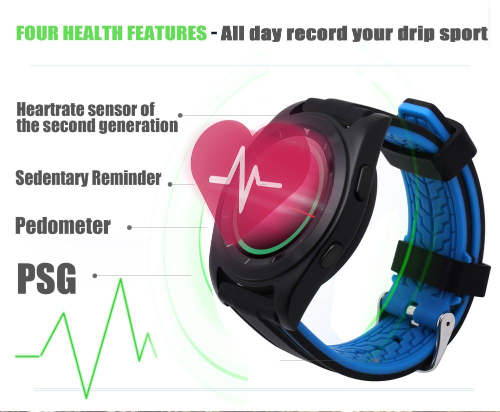 Unique Bluetooth Smart Watch No1 G6 Heart Rate Monitor Pedometer Psg Spovan Gl006 Jam Tangan Olahraga Lari Smartwatch Gps Heartrate Black