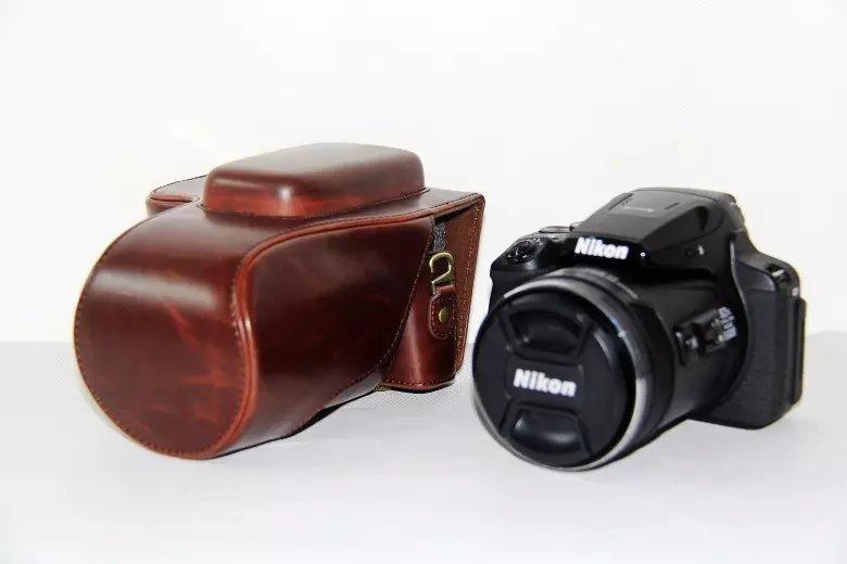 pu leather camera bag case cover for nikon coolpix p900s p900digital camera bag - intl