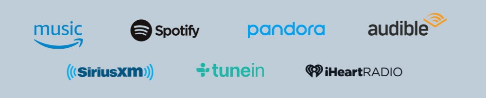 Amazon Music, Spotify, Pandora, and more