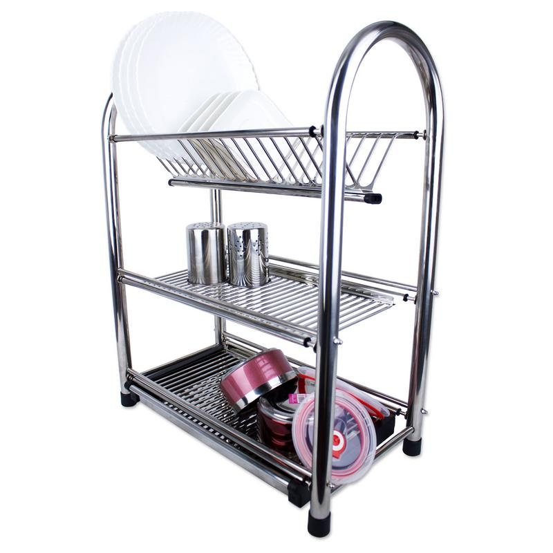 Phoenixhub 3 Layered Pure Stainless Steel Dish Drainer