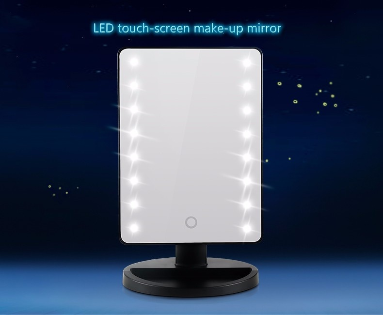 Led vanity makeup mirror with lights table lamp cosmetic mirror abs rectangle desktop mirror led makeup mirrors with led light aloadofball Images