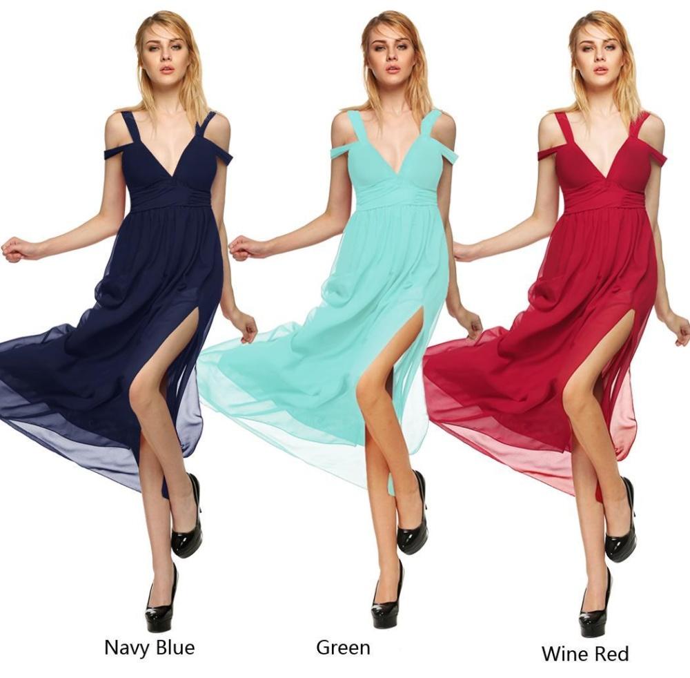 Cyber Maxi Long Dress (Navy Blue) | Lazada PH