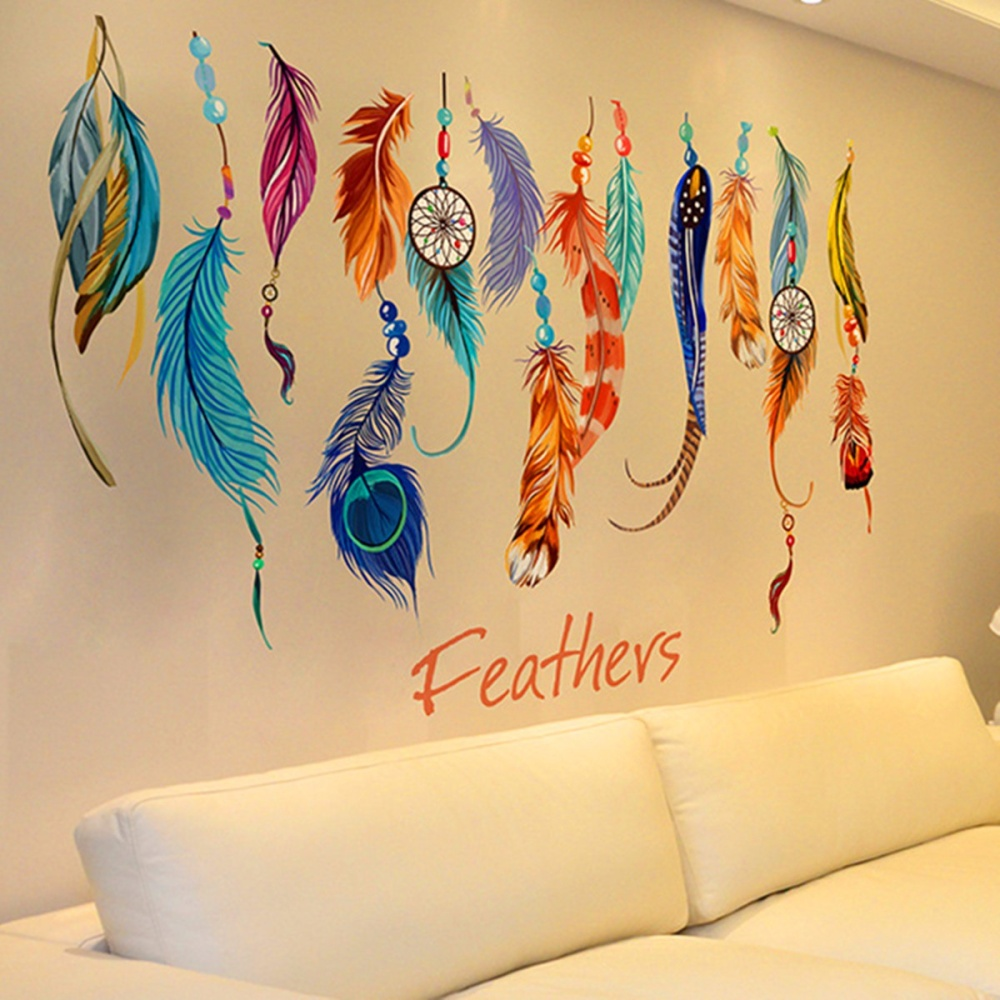 Philippines   Lucky Dream Catcher Feather Removable Wall Art Sticker ...