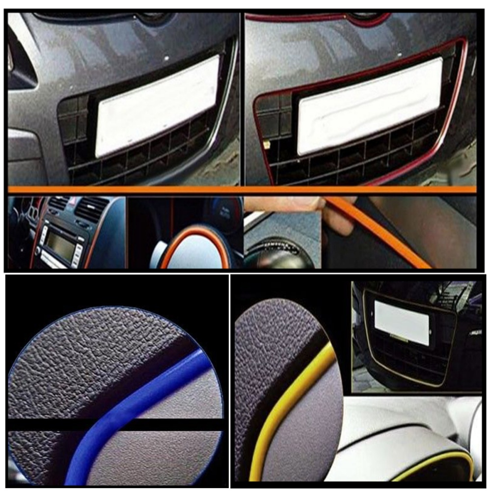 5m red diy flexible trim car interior exterior moulding strip decorative line lazada ph. Black Bedroom Furniture Sets. Home Design Ideas