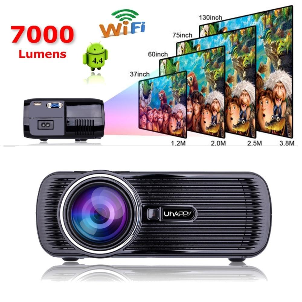 mini wifi 3000 lumens 1080p 3d hd led portable projector. Black Bedroom Furniture Sets. Home Design Ideas