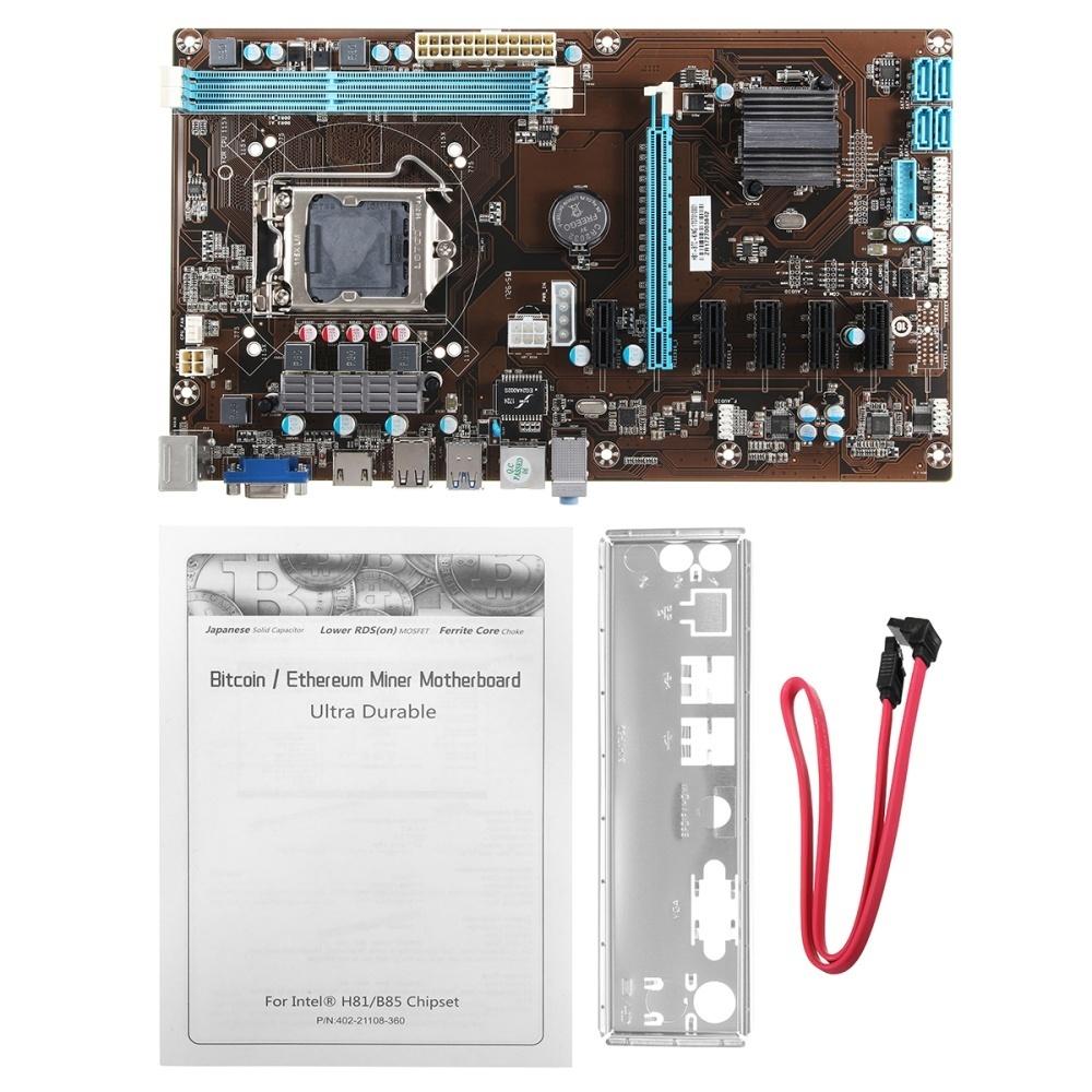 6 GPU LGA 1150 H81-BTC 6 PCI-E SATA Mining Motherboard For ETH Bitcoin  Miners - intl
