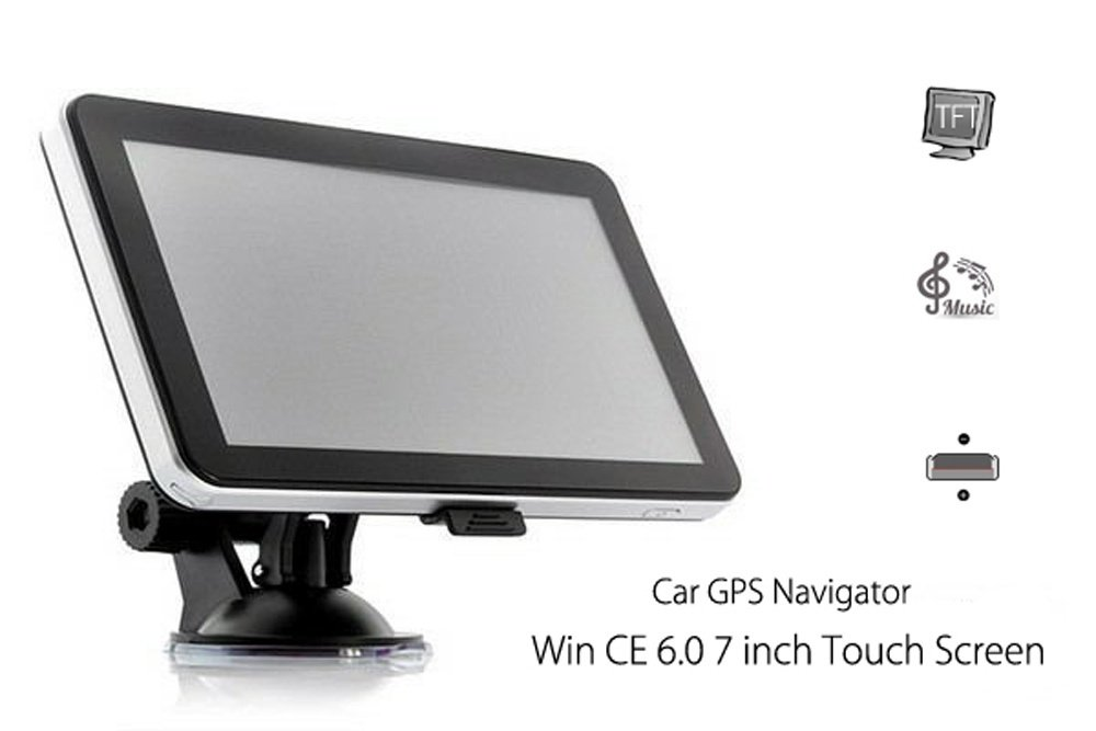 704 7 inch Truck Car GPS Navigation Navigator with Free Maps Win CE 6.0 / Touch Screen / E-book / Video / Audio / Game Player