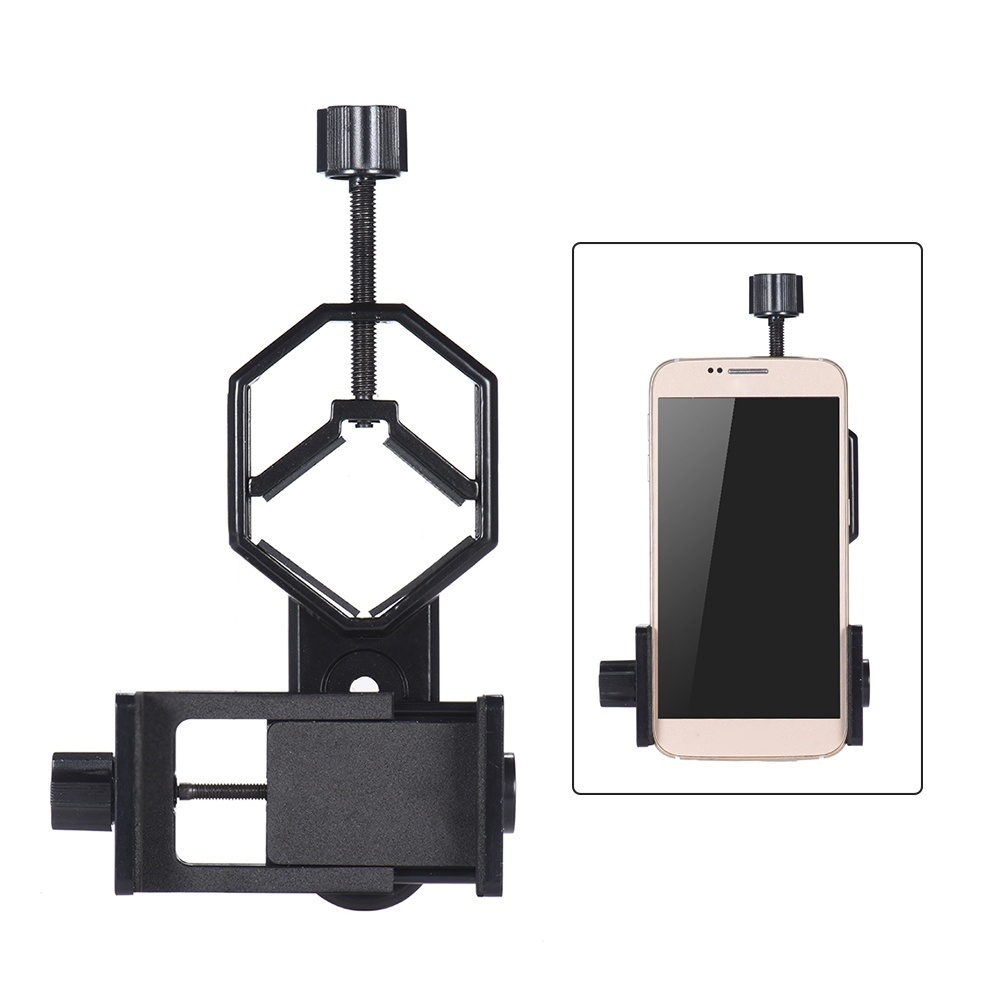 free shipping 4ccb9 1ca2b Andoer Metal Telescope Mount Adapter Bracket with Adjuatable Smartphone  Cell Phone Holder Clip for Binocular Monocular Spotting Scope Microscope  for ...