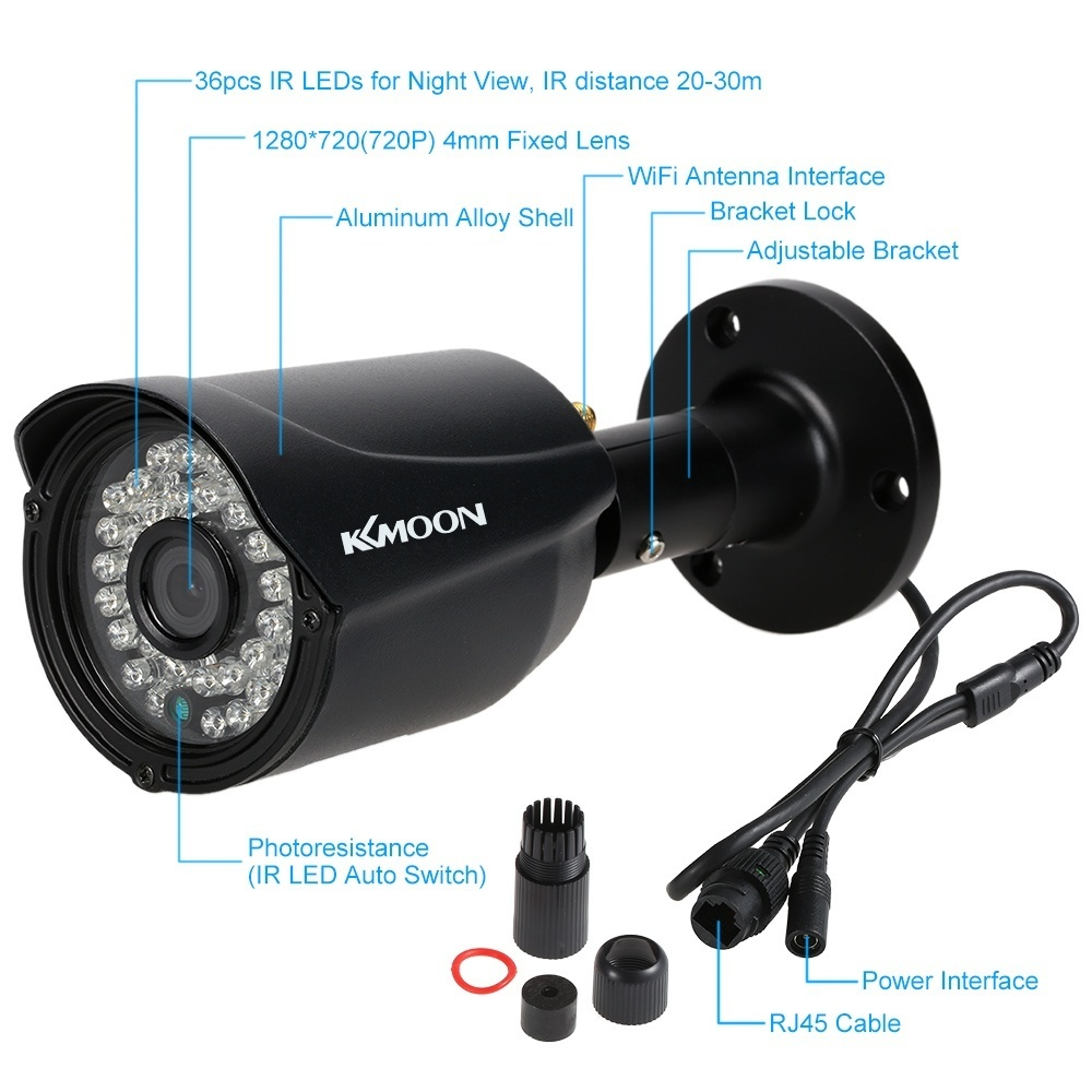 Kkmoon 4 Channel Hd 720p Wireless Wifi Nvr Network Video Recorder View Mobile Dvr With Shock Sensor And Ptz Controller Adapter Note This Kit Is Shipped No Hdd So You May Need Buy Install It Yourself Has Sata30 Cable Inside Can Easily Connect