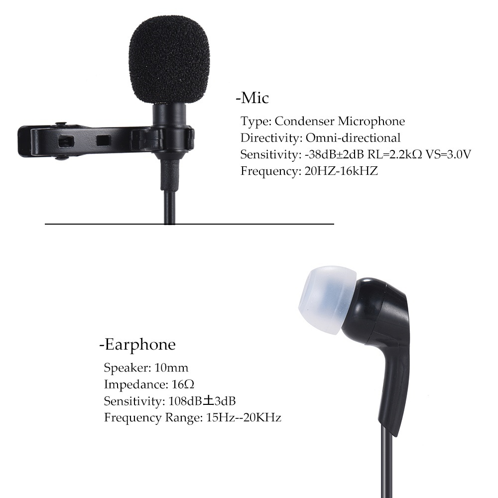 Philippines Andoer Mini Clip On Lapel Lavalier Microphone Mic 35mm Portable With For Smartphone Laptop Tablet Pc This Had High Sensitivity Dynamic Wide Frequency Response It Is 360 Degree Rotary And Has A Windscreen Great Audio Video Recording