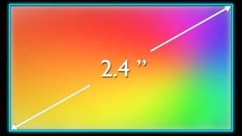 """6.1 cm (2.4 """") TFT display QVGA, 262,000 colors for bright and rich images"""