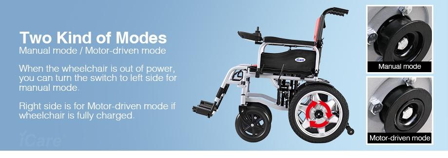 ICare E310 Electric Wheelchair Solid Wheel