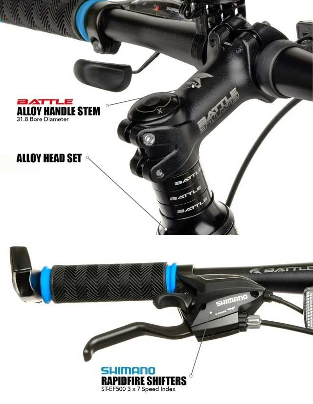 Battle 419D 26″ Shimano 21-Speed Alloy Mountain Bike ...