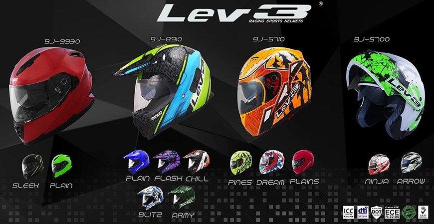 Lev3 Racing Sports Helmets