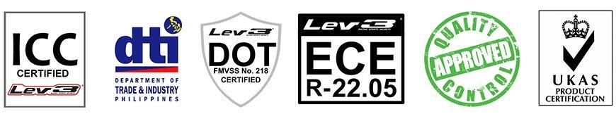 Lev3 Racing Sports Helmets Standards