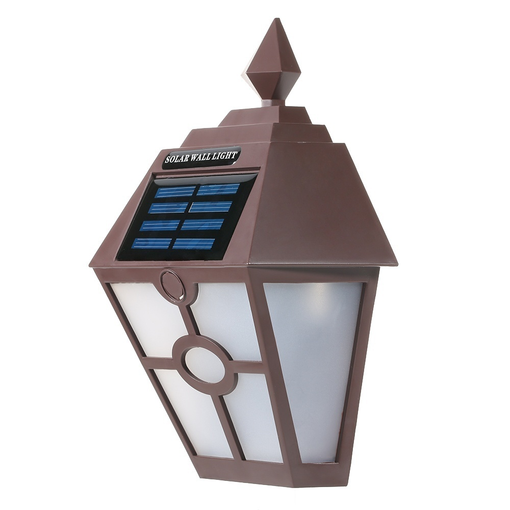 Philippines Retro Ip65 Water Resistant Outdoor Solar Powered Night No Wiring Wall Light Charging Under Sun Is A Decoration On When Darkness Falls It Will Automatically Glow And Provide Calm Show During