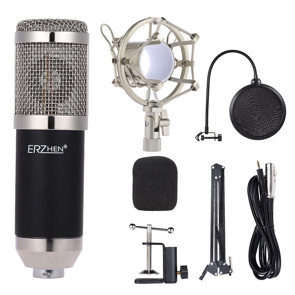 Professional Studio Broadcasting Recording Condenser Microphone Mic Circuit Kit For Network Singing Etc The Adopts Accurate Electronic Low Noise